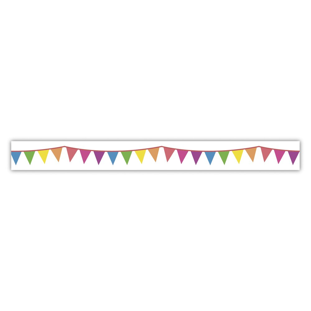 Washi Tape Party Wimpel, 15mm, Rolle 15m
