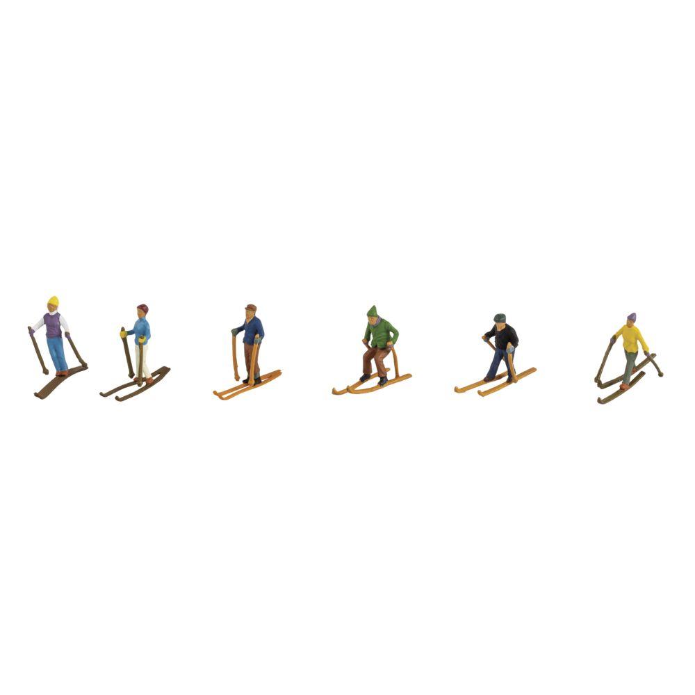 Kunststoff-Miniaturen Skifahrer